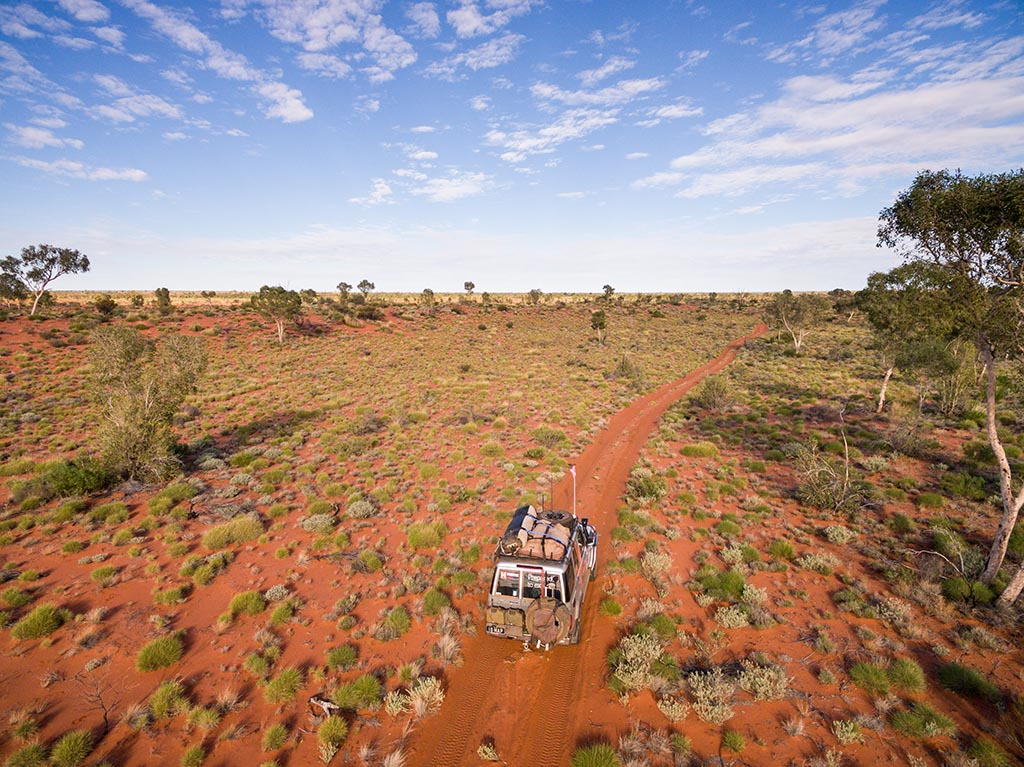Aerial view of the Canning Stock Route