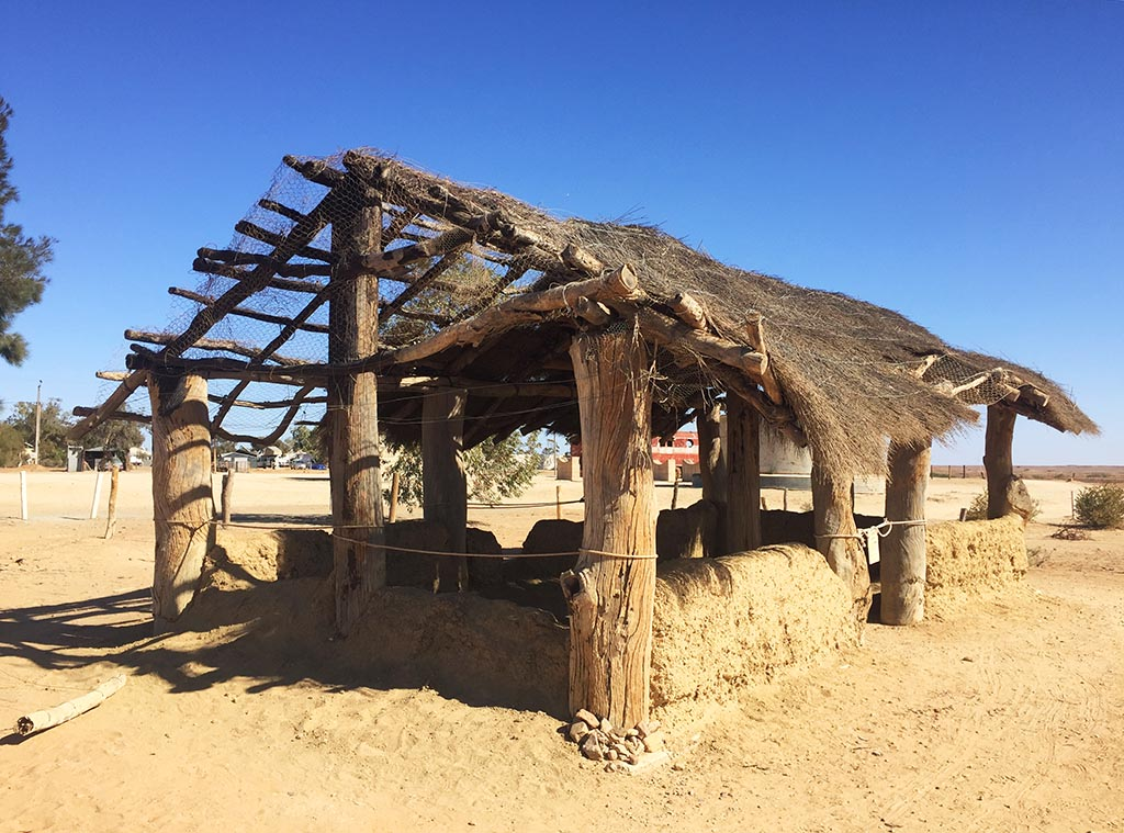 Replica of the first mosque in Australia built by Afghan cameleers in 1884 in Marree, South Australia