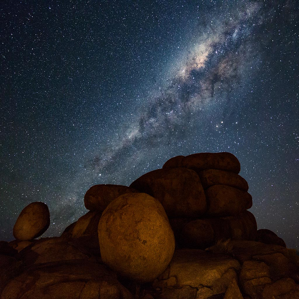 Milky Way over the Devil's Marbles in the Northern Territory