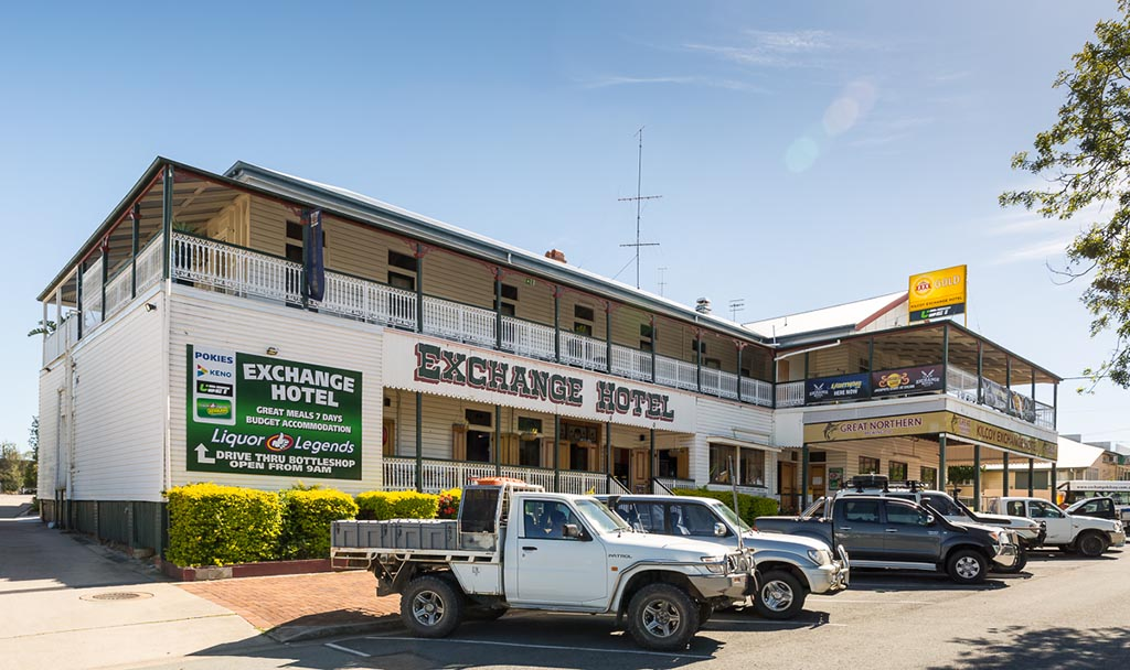 End of the trip at the Exchange Hotel, Kilcoy 4WD Tracks Brisbane