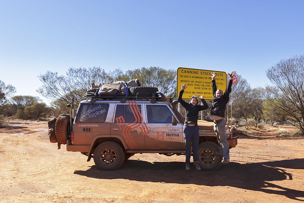 Jumping for joy as we finish the Canning Stock Route