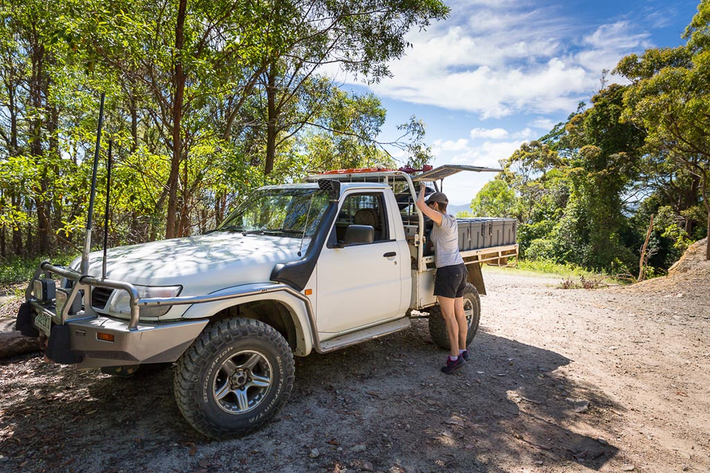 Time for morning tea at Kluver Lookout 4WD TRACKS BRISBANE