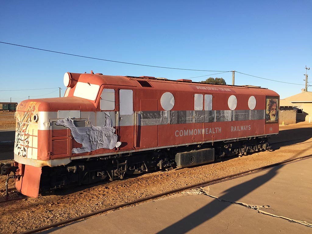 An old locomotive from the Ghan Railway Line