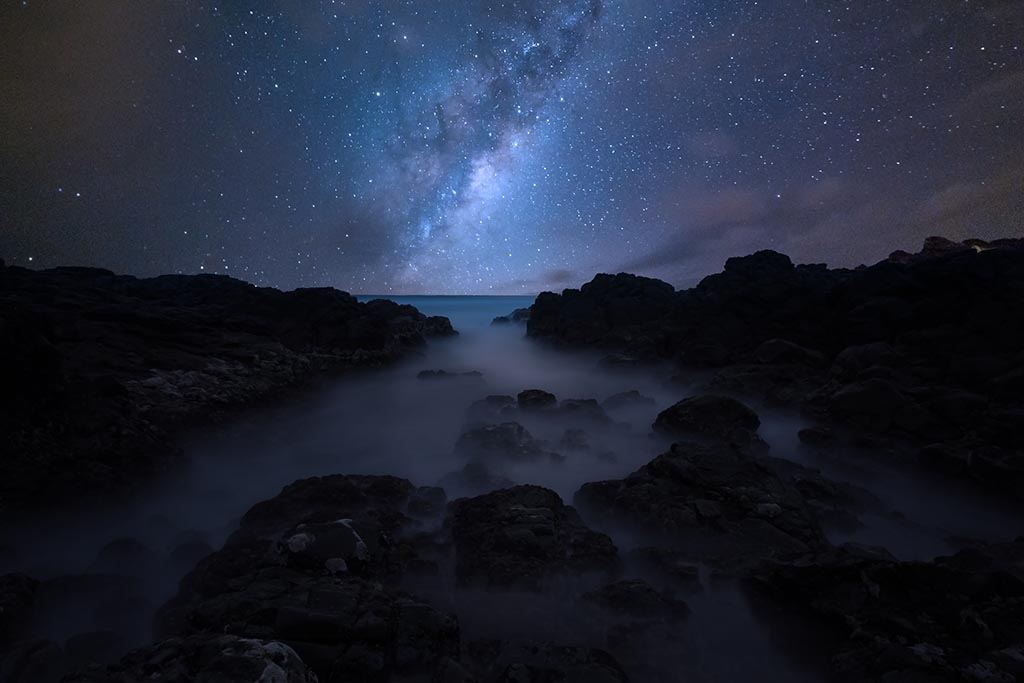 Seascape and Milky Way