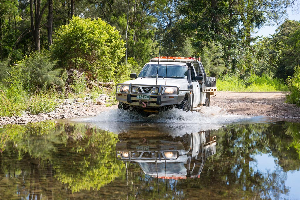 Creek crossing of Lacey's Creek on Lacey's Creek Road 4WD TRACKS BRISBANE