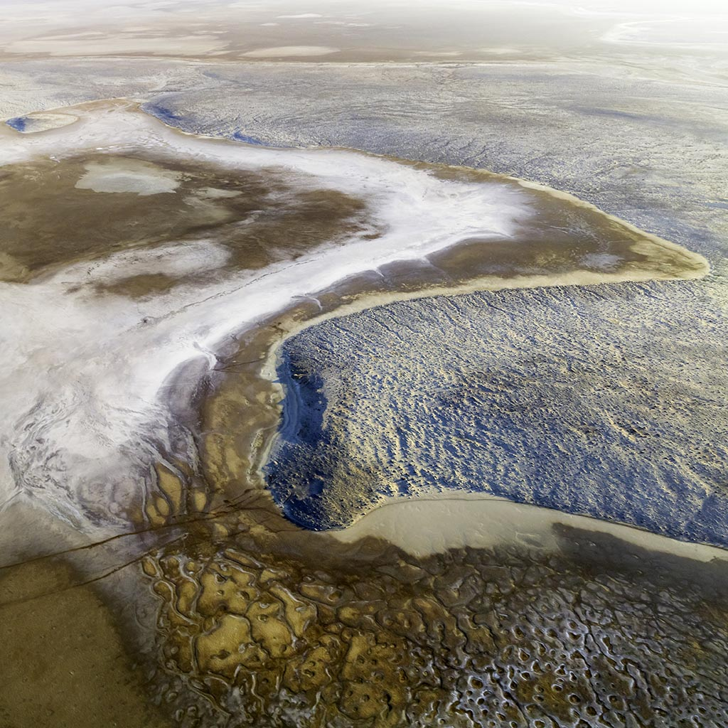 Aerial abstract image of from my flight over Lake Eyre