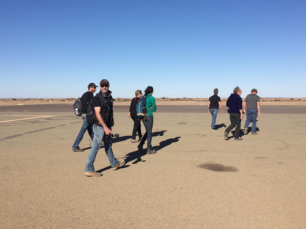 Walking to the plane for my scenic flight over Lake Eyre