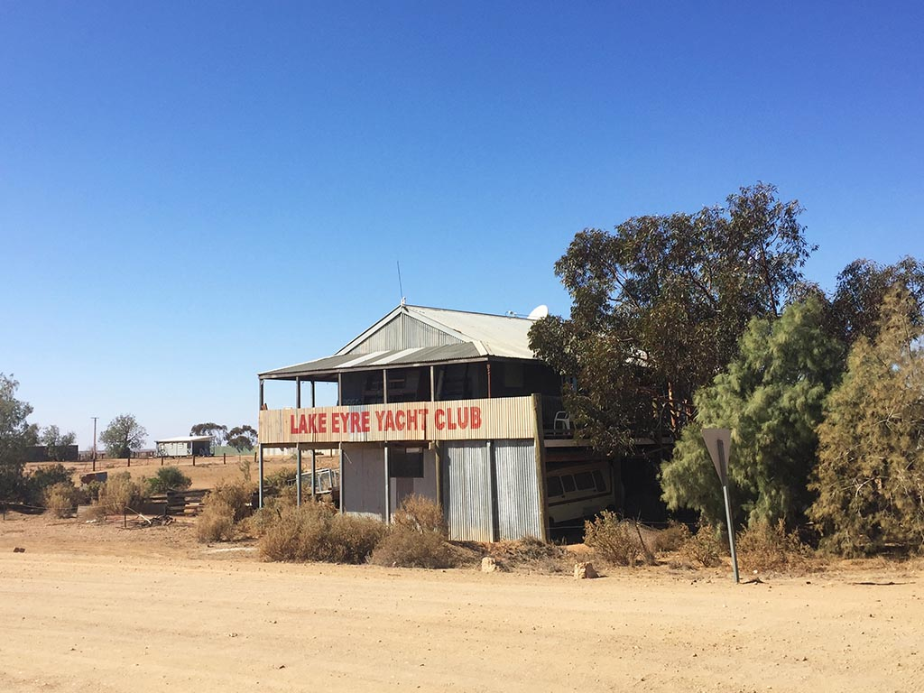 The Lake Eyre Yacht Club in Marree, South Australia