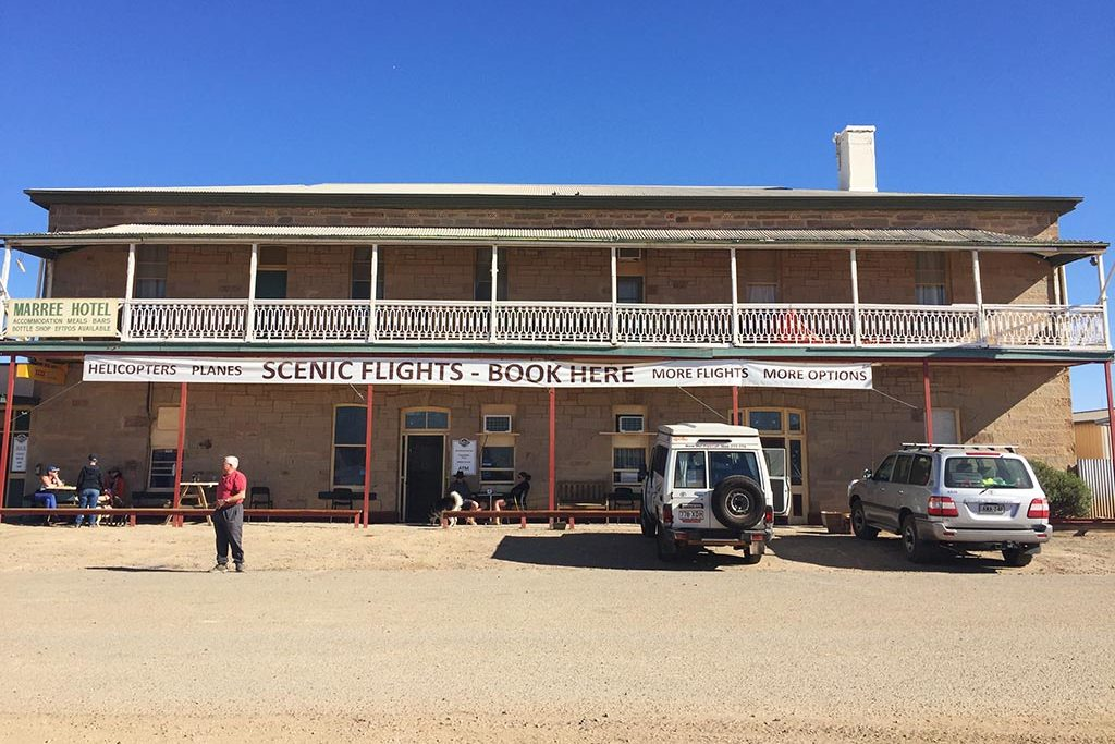 The front of the Marree Hotel
