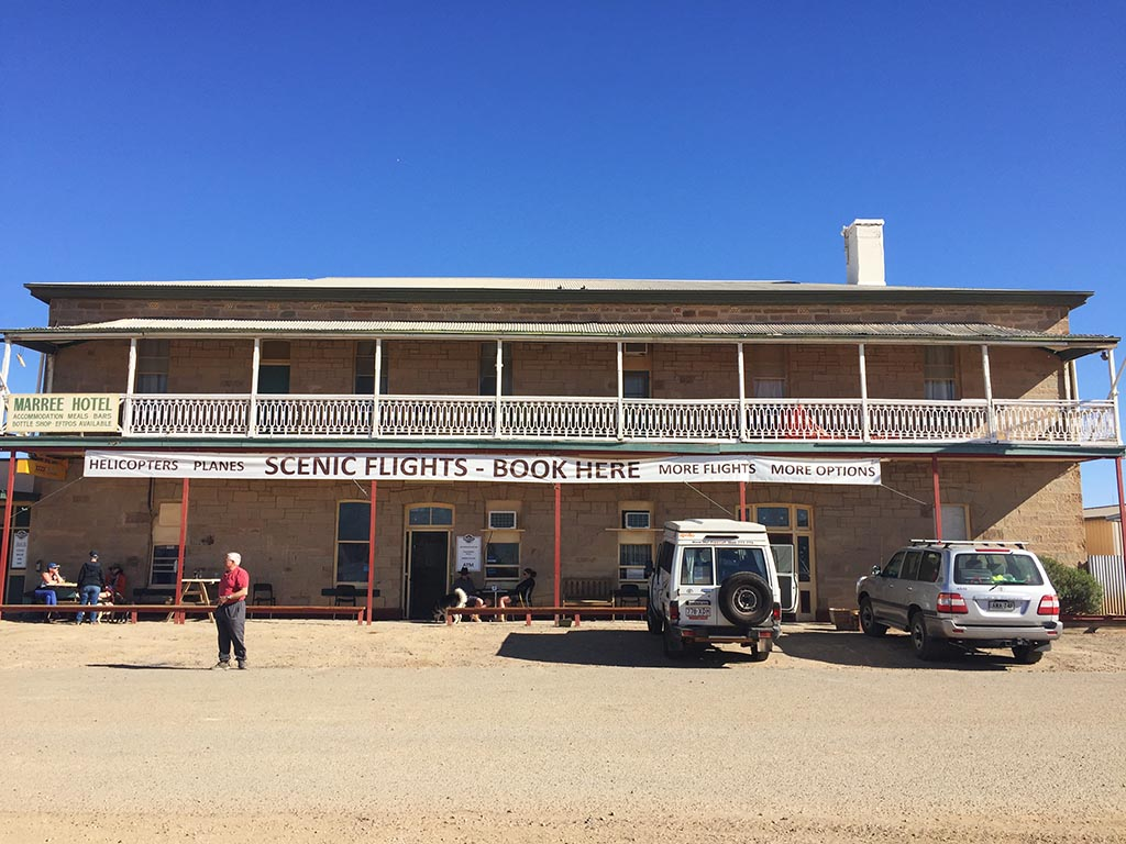 The front of the Marree Hotel, South Australia