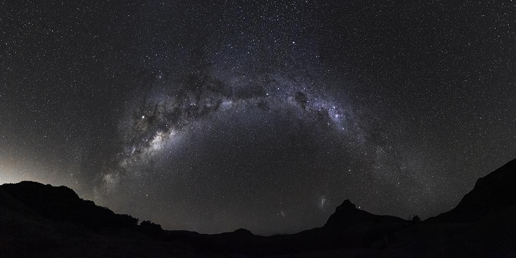 Panographic image of the Milky Way over Mt Warning