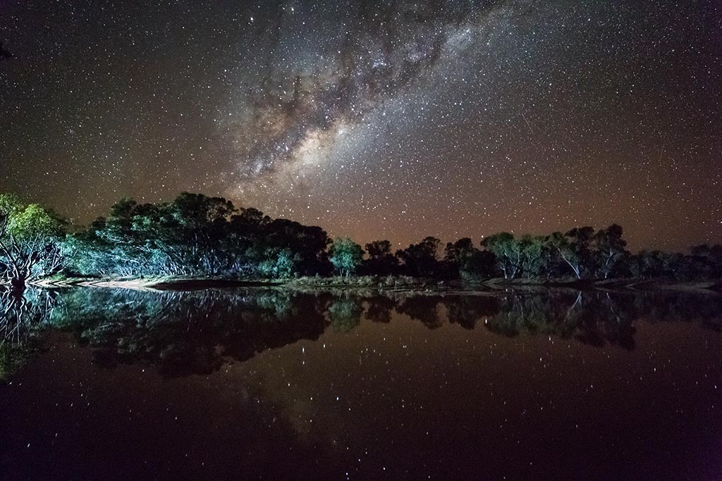 The Milky Way shines bright over Stretch Lagoon
