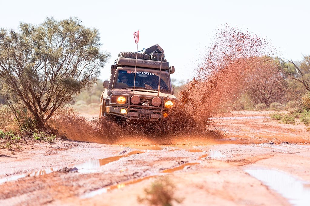 Recent winter rains made the southern section of the CSR quite wet and muddy