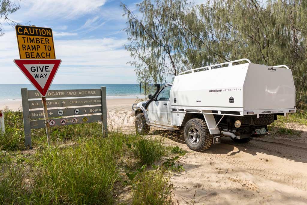 4WD beach access point