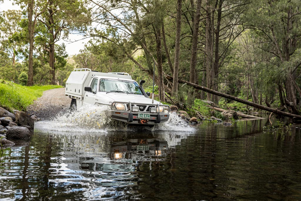 4WD driving through the water