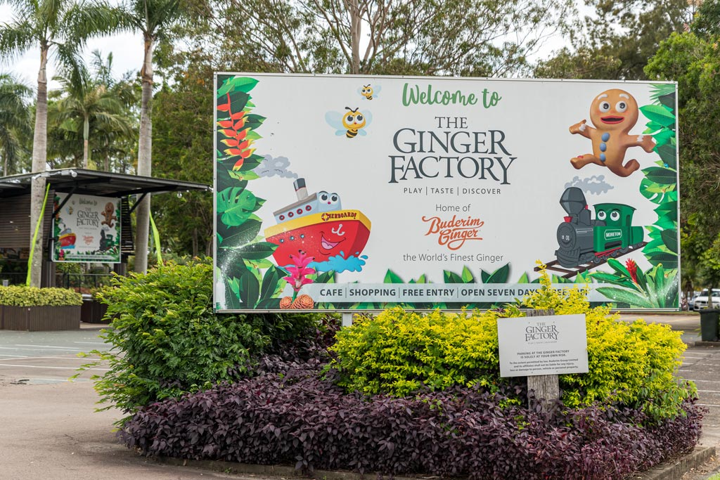 Sign for the Ginger Factory at Yandina - Sunshine Coast Hinterland Towns