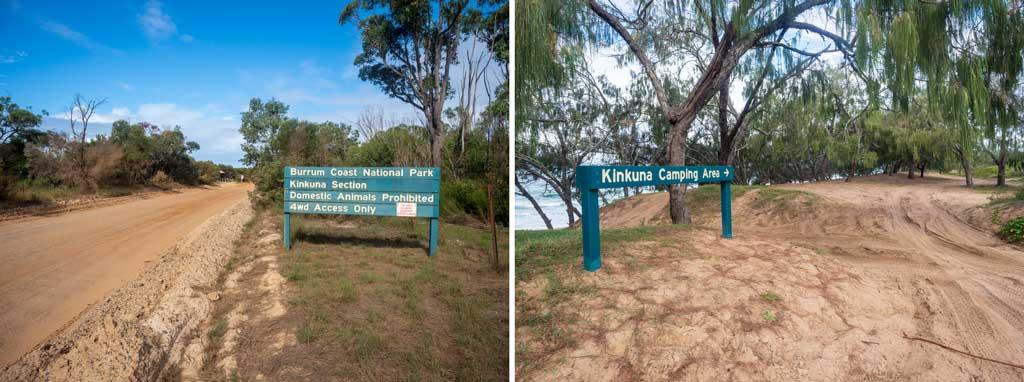 Kinkuna Section Signage Burrum Coast National Park