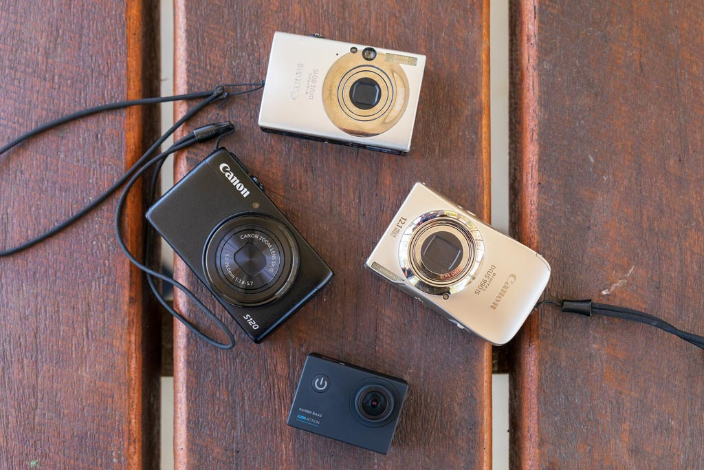Four cameras on a table - Photography for Kids