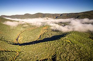 Aerial view Sundown National Park