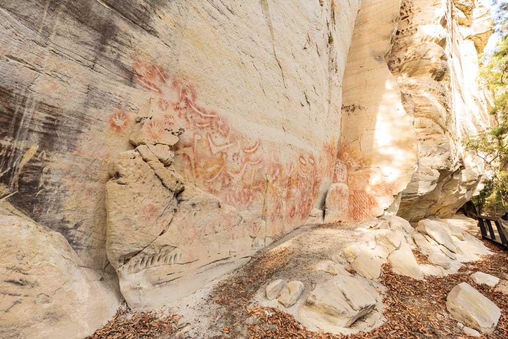 Aboriginal rock art - the Art Gallery, Carnarvon Gorge