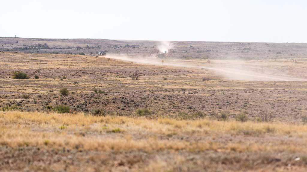 Dust trails - 4WD tracks South Australia Strzelecki Track