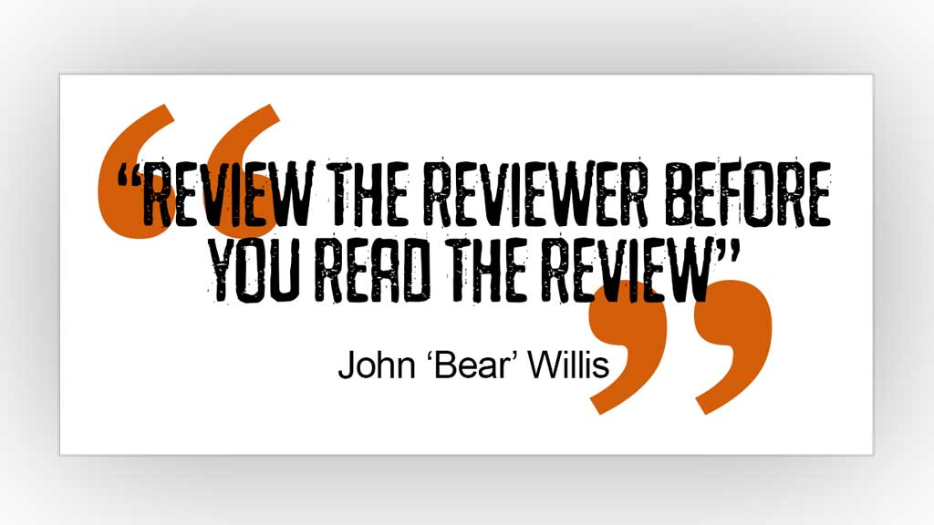 Review the reviewer quote