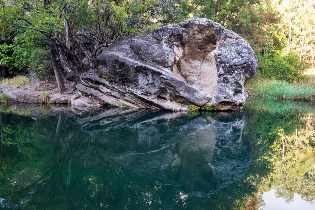 Reflections at the Rock Pool, Carnarvon Gorge.