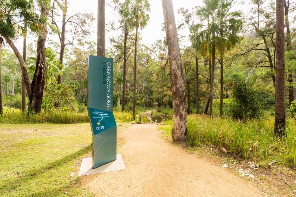 Signage for the start of the walks at Carnarvon Gorge - Carnarvon Gorge Walking Tracks