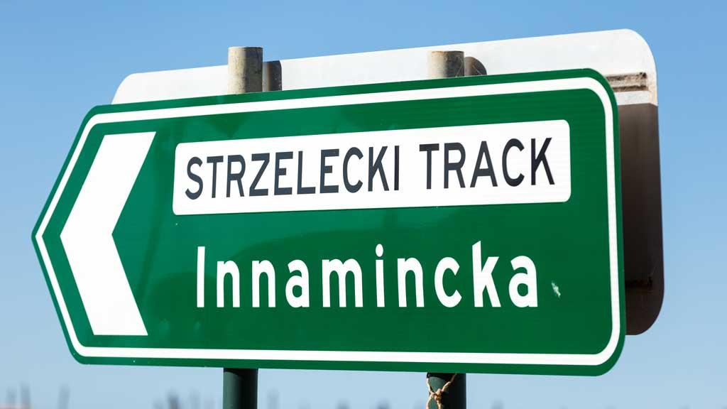 Strzelecki Track Sign