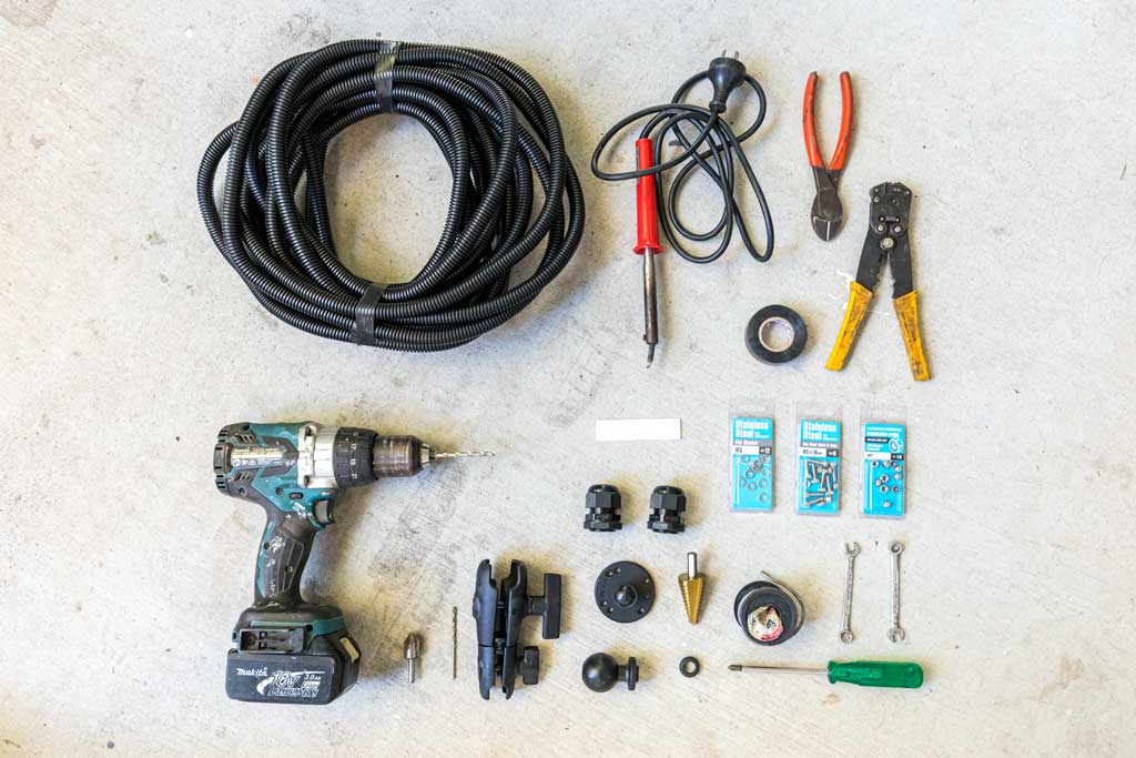 Tools required for a rear vision system install