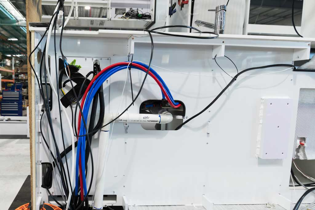Wiring and plumbing
