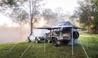 Sunrise over our campsite at Witheren Heights Bush Retreat