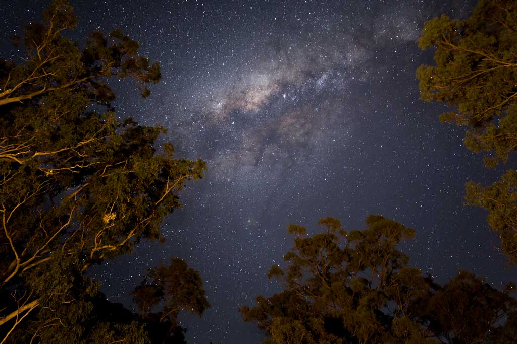 The milky way above