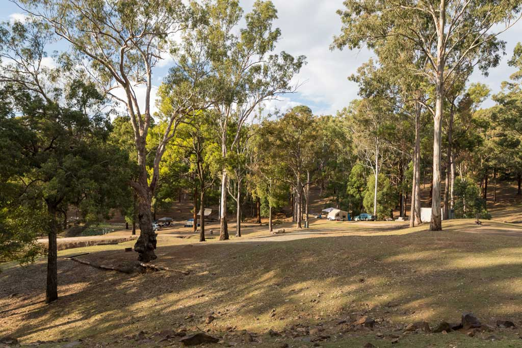 View of main camping area